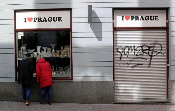 Uzavřený obchod v Praze - Sputnik Česká republika
