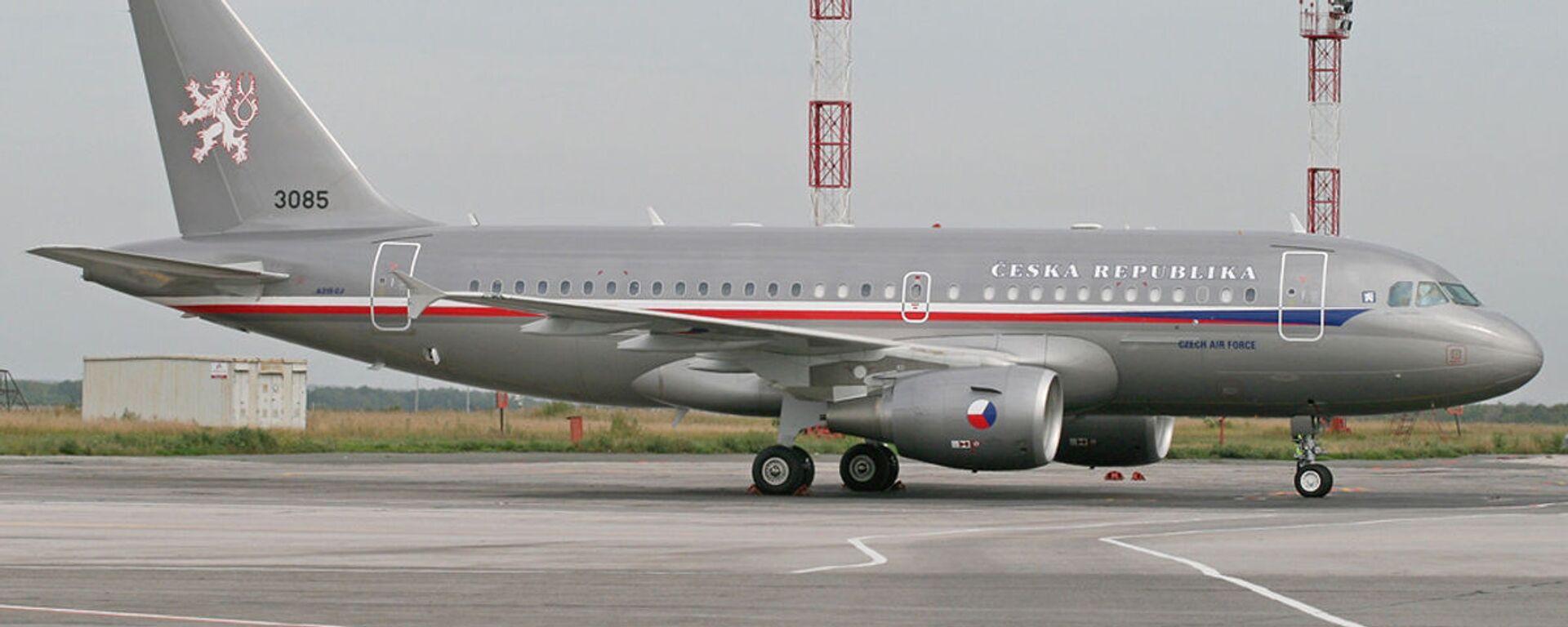 Armádní letoun Airbus A-319 na letišti Praha-Kbely. Ilustrační foto - Sputnik Česká republika, 1920, 16.08.2021