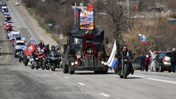 Oslava 6. výročí znovusjednocení Krymu s Ruskem - Sputnik Česká republika