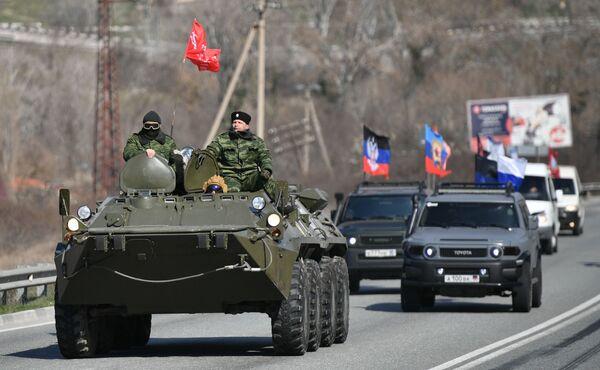 Slavnostní akce věnovaná 6. výročí znovusjednocení Krymu s Ruskem - Sputnik Česká republika