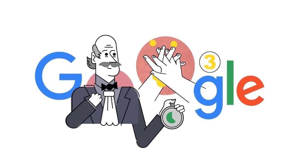 Doodle věnovaný Ignácovi Semmelweisovi
