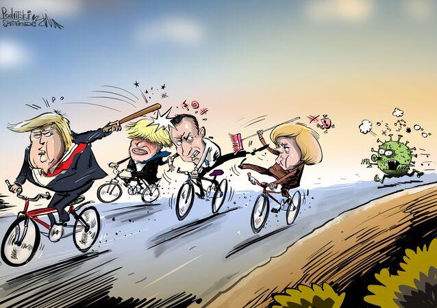 Karikatura: Koronavirus odhalil slabost EU