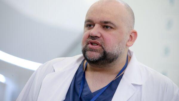Primář nemocnice v Kommunarce (Moskva) Denis Procenko - Sputnik Česká republika
