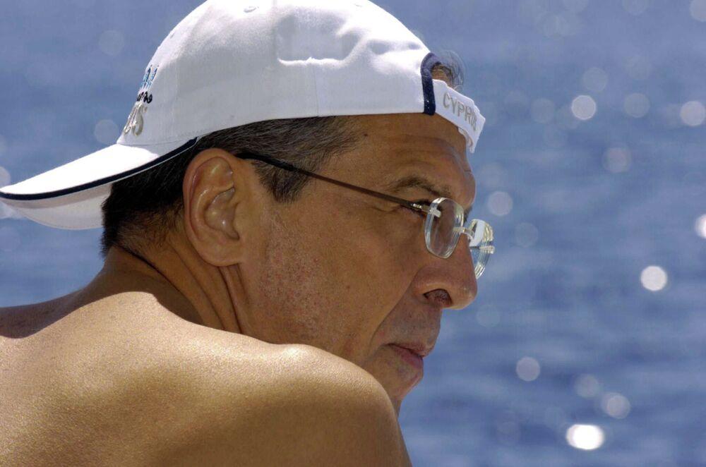 Sergej Lavrov na dovolené