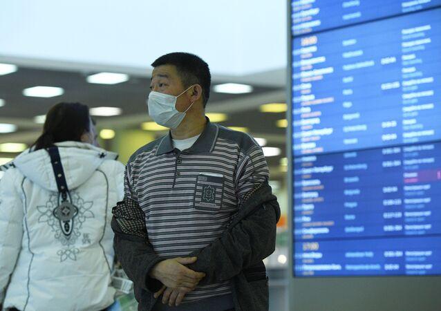 Cestující na letišti Šeremetěvo