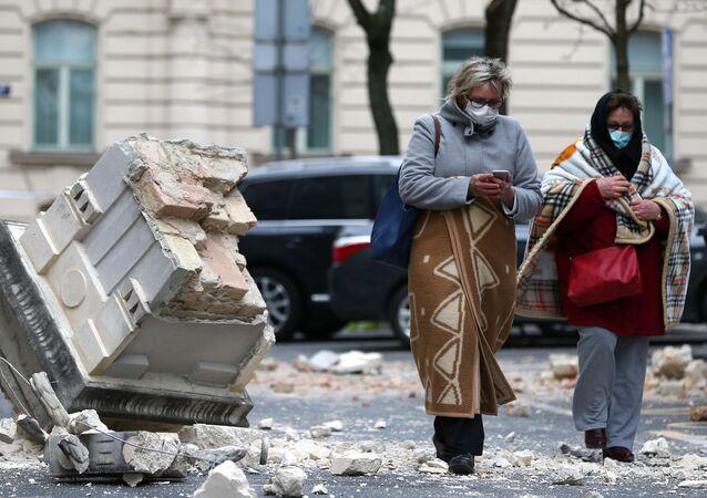 Následky zemětřesení v Záhřebu