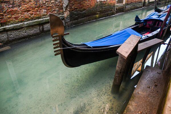 Čistá voda v benátském kanále na pozadí turistické krize způsobené koronavirem - Sputnik Česká republika