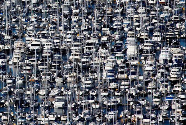 Lodě v přístavu Elliott Bay během vypuknutí koronaviru v Seattlu, USA - Sputnik Česká republika