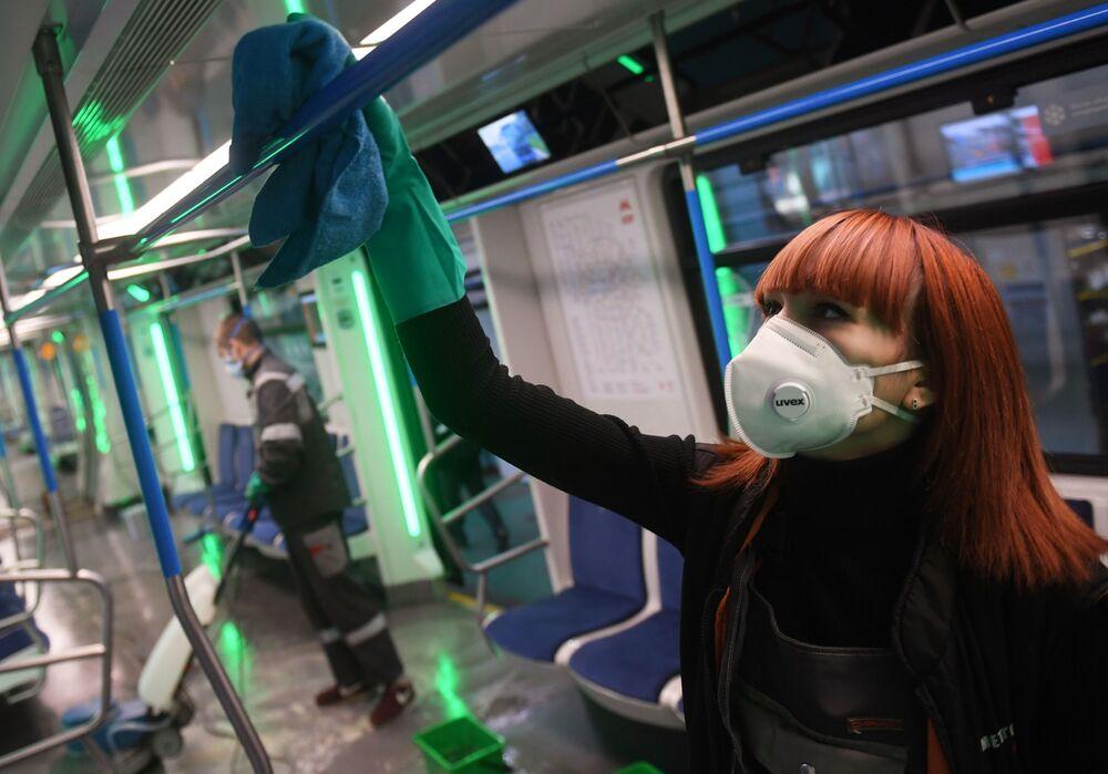 Dezinfekce moskevského metra