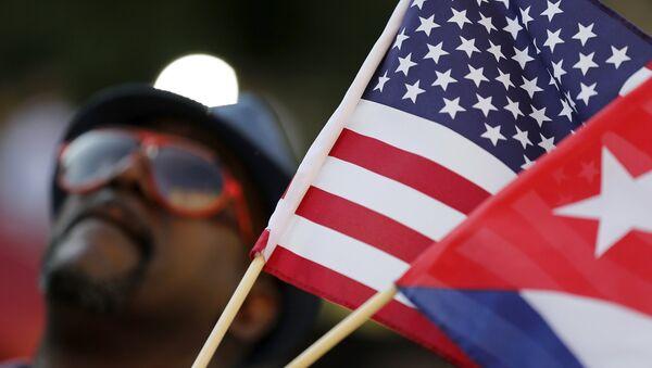 Vlajky USA a Kuby - Sputnik Česká republika
