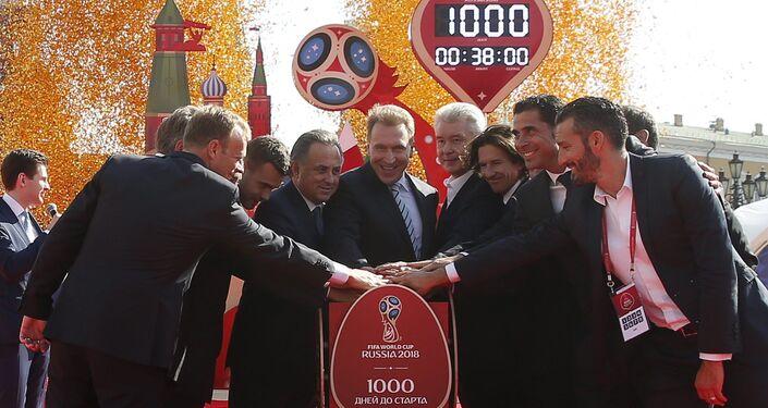 Ceremoniál zahájení odpočítávání 1000 dnů před zahájením MS 2018
