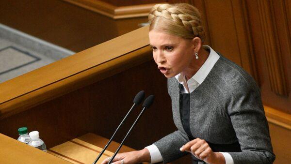 Bývalá dvojnásobná předsedkyně vlády Ukrajiny Julija Tymošenková - Sputnik Česká republika