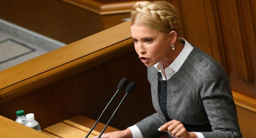 Bývalá dvojnásobná předsedkyně vlády Ukrajiny Julija Tymošenková