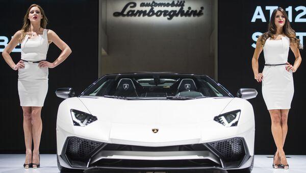 Expozice Lamborghini na automobilovém salonu ve Frankfurtu nad Mohanem. - Sputnik Česká republika