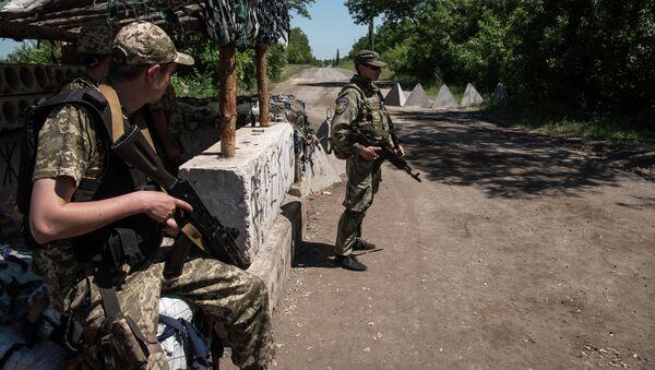 Ukrajinští vojáci u Donětsku - Sputnik Česká republika