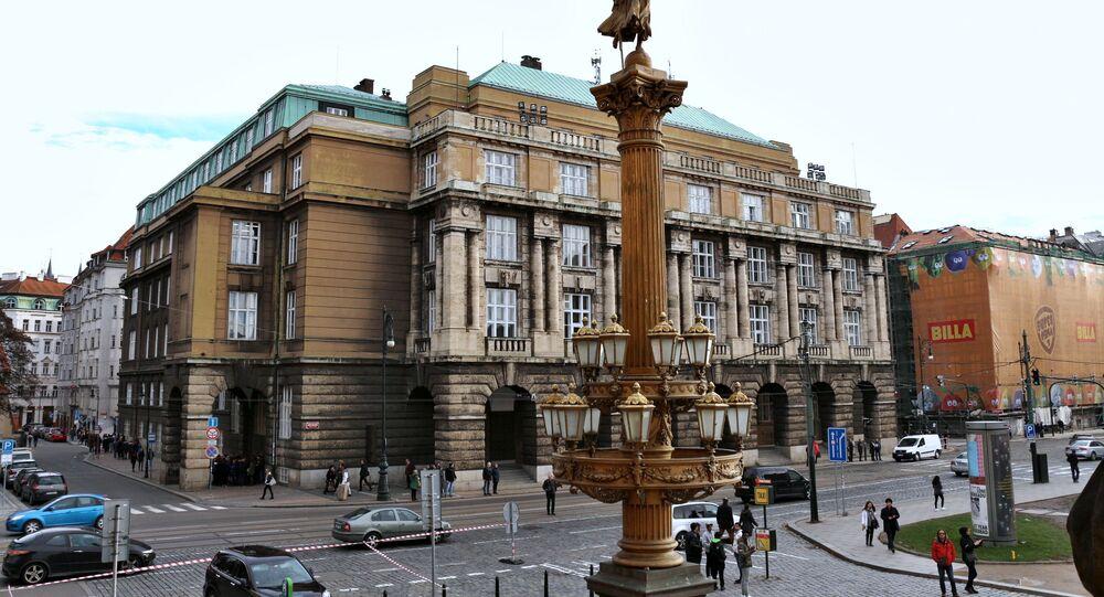 Budova Filosofické fakulty Univerzity Karlovy v Praze, Palachovo náměstí