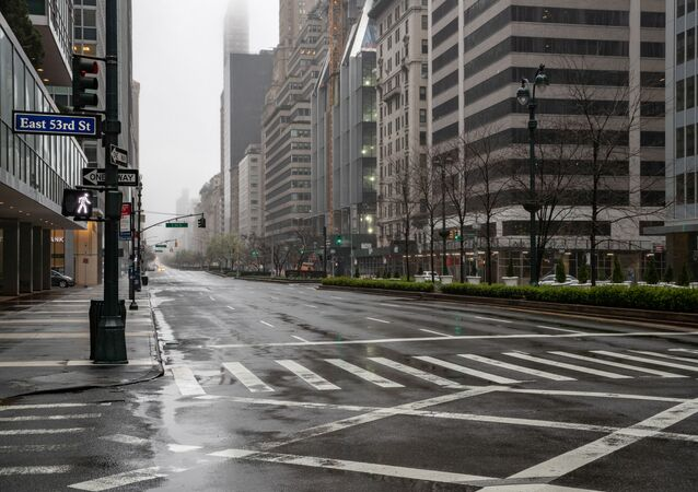 Opuštěná ulice v New Yorku