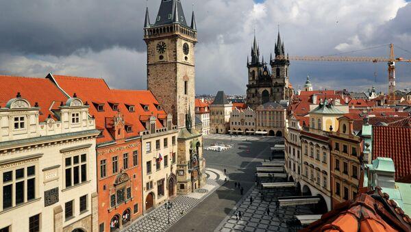 Staroměstské náměstí v Praze v době koronaviru - Sputnik Česká republika