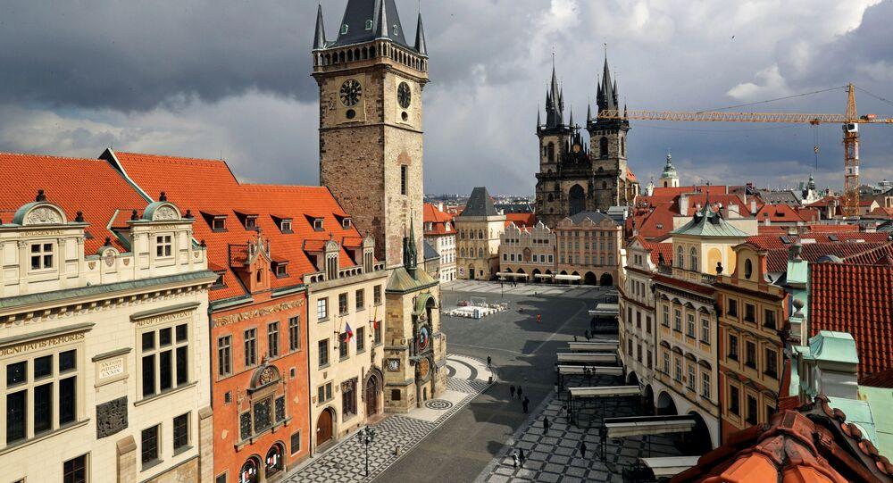 Staroměstské náměstí v Praze v době koronaviru