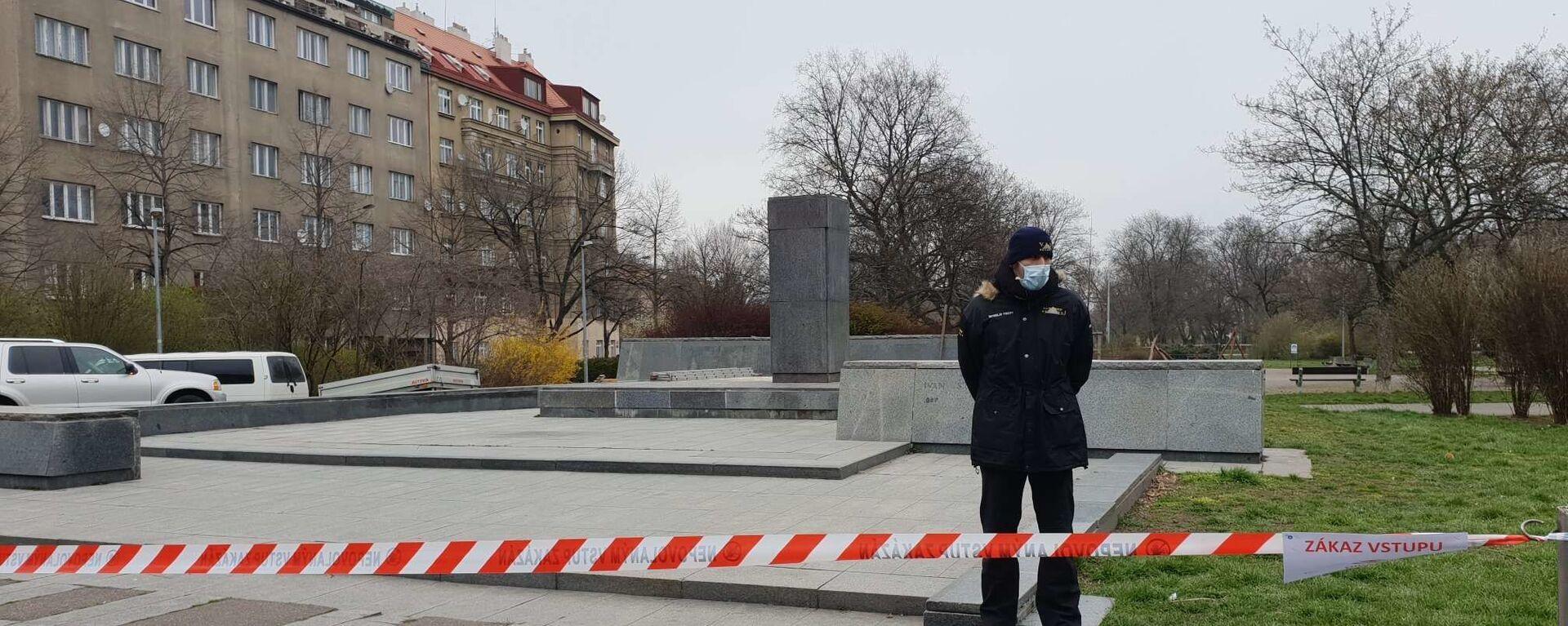 Místo, kde dříve stál pomník Koněva v Praze-6 - Sputnik Česká republika, 1920, 27.01.2021