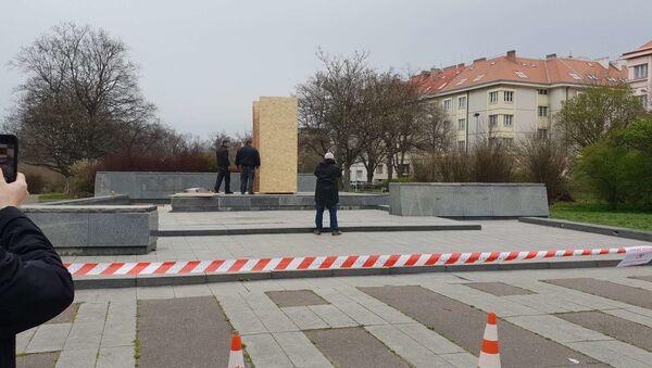 Místo v Praze-6, kde dříve stála socha maršála Koněva - Sputnik Česká republika