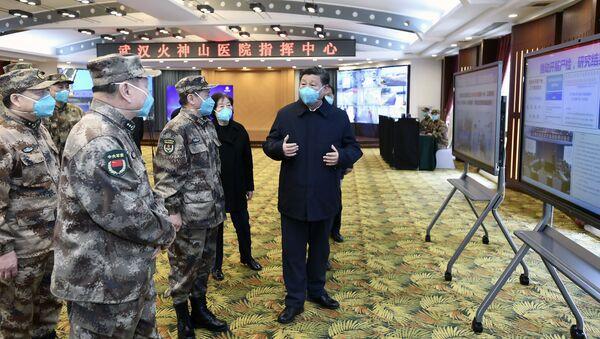 Čínský prezident Si Ťin-pching v nemocnici ve Wu-Chanu - Sputnik Česká republika