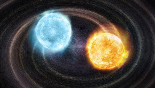 Koncept binárního systému bílých trpaslíků J2322 + 0509. - Sputnik Česká republika