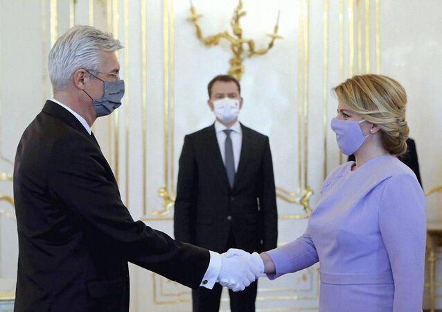 Ministr zahraničí SR Ivan Korčok a slovenská prezidentka Zuzana Čaputová