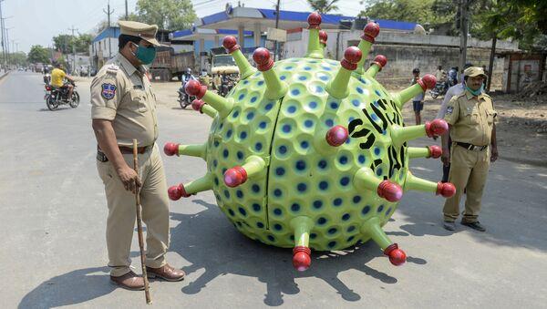 Automobil v podobě koronaviru vynálezce Sudhakara Yadava. Ilustrační foto - Sputnik Česká republika