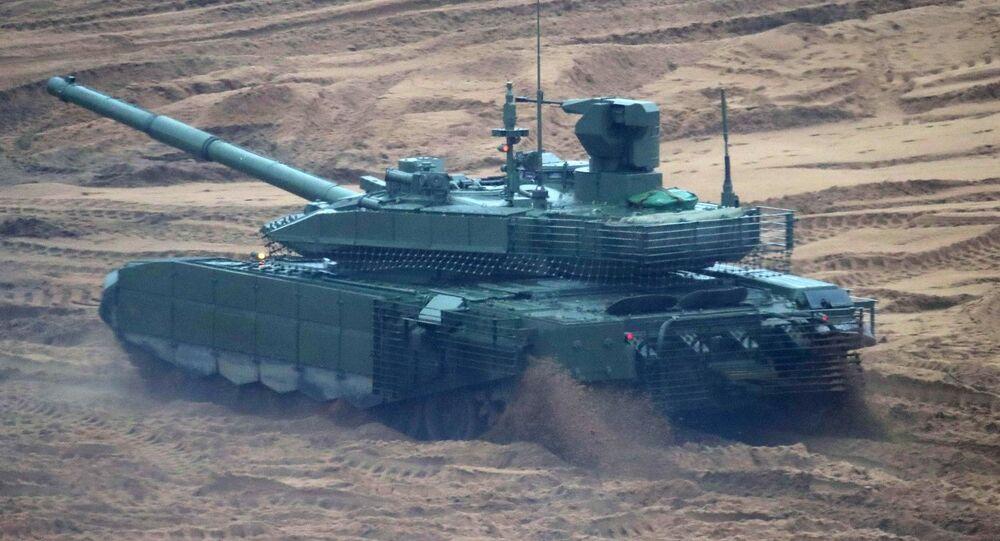 Tank T-90M Proryv na cvičení Západ 2017