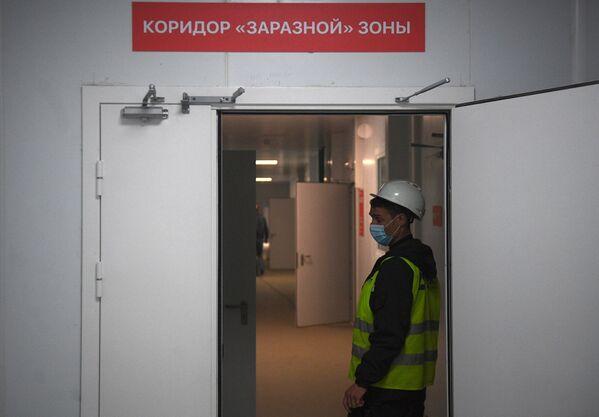 Další vysokorychlostní tah v boji s pandemií v Rusku. Výstavba nového infekčního centra v Moskvě - Sputnik Česká republika