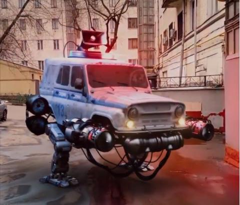 Roboti v ulicích Moskvy