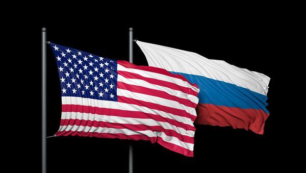 Americká a ruská vlajka - Sputnik Česká republika