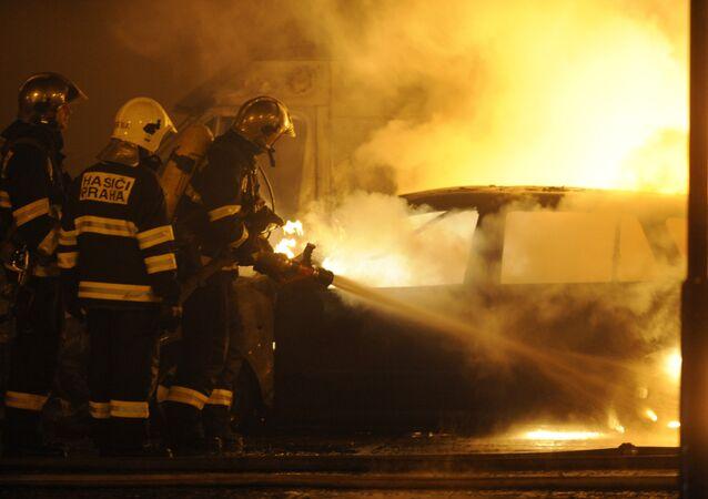 Čeští hasiči, archivní foto
