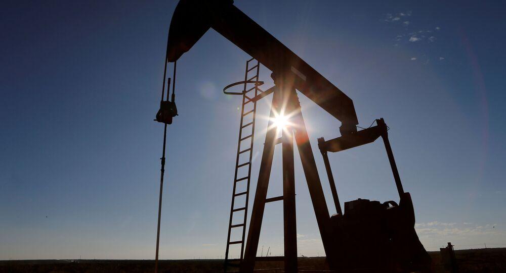 Těžba ropy v Texasu, USA