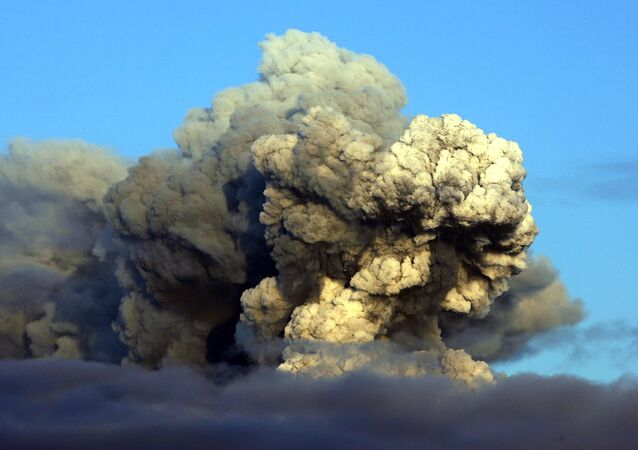 Erupce sopky Eyjafjallajokull na Islandu