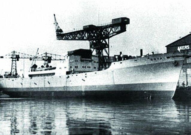 Německá vojenská dopravní loď Goya