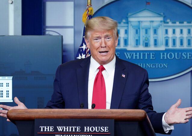 Americký prezident Donald Trump v Bílém domě