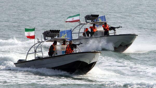 Motorové čluny Íránských revolučních gard - Sputnik Česká republika