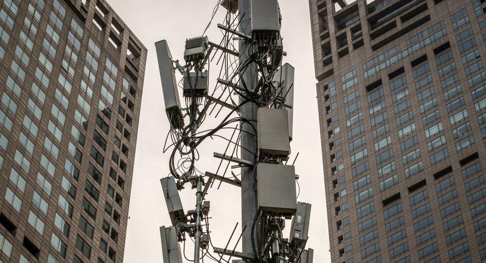 5G věž v Pekingu