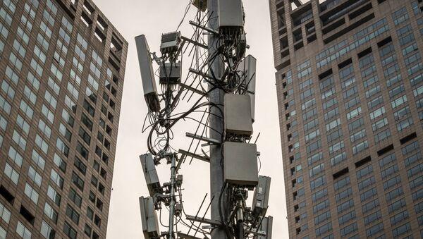 5G věž v Pekingu - Sputnik Česká republika