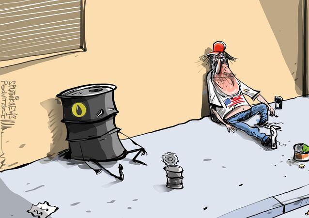 Cena ropy WTI opět klesla pod nulu
