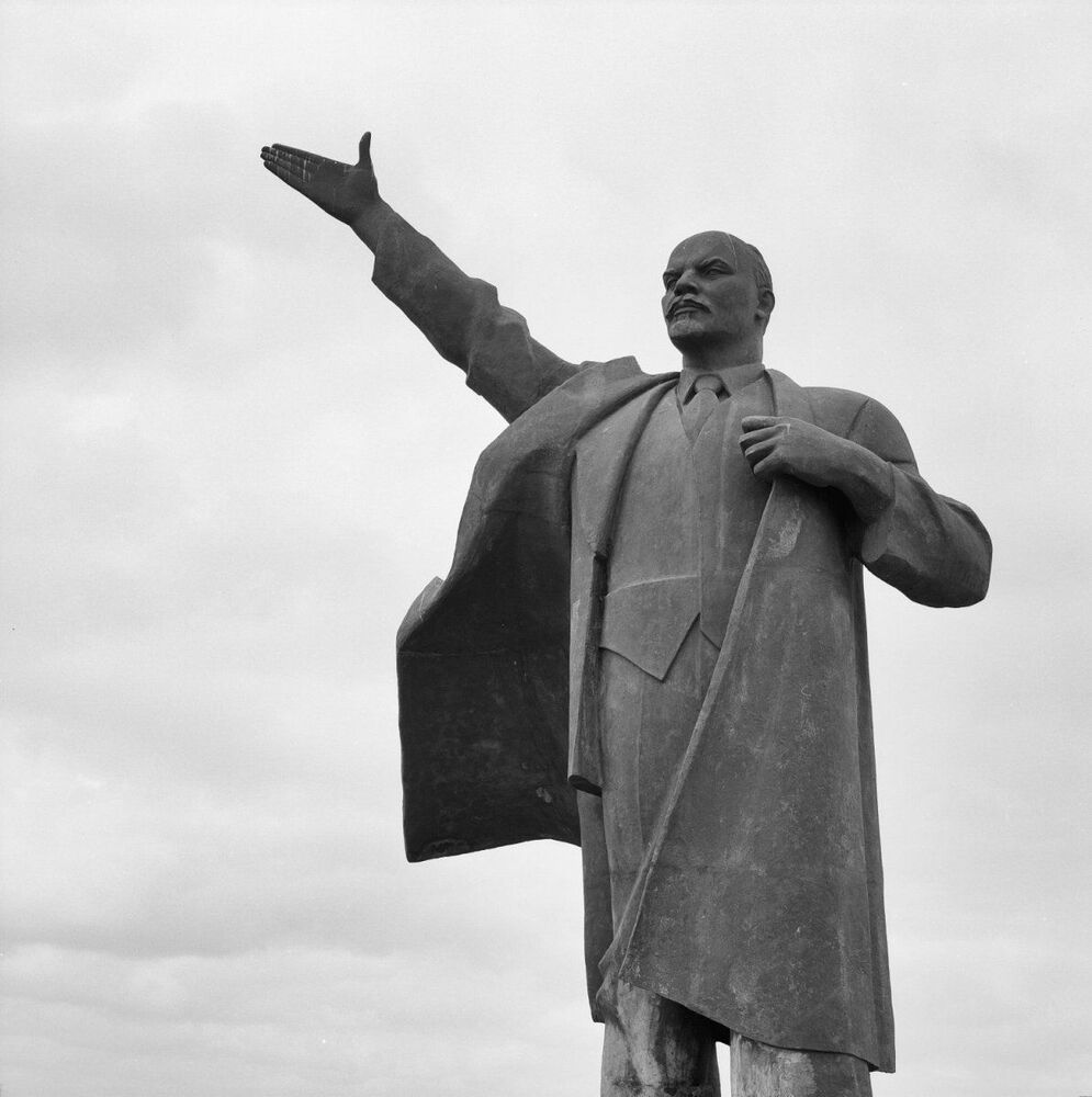 Památník V. I. Lenina v provincii Groningen, Nizozemsko. Soukromé vlastnictví