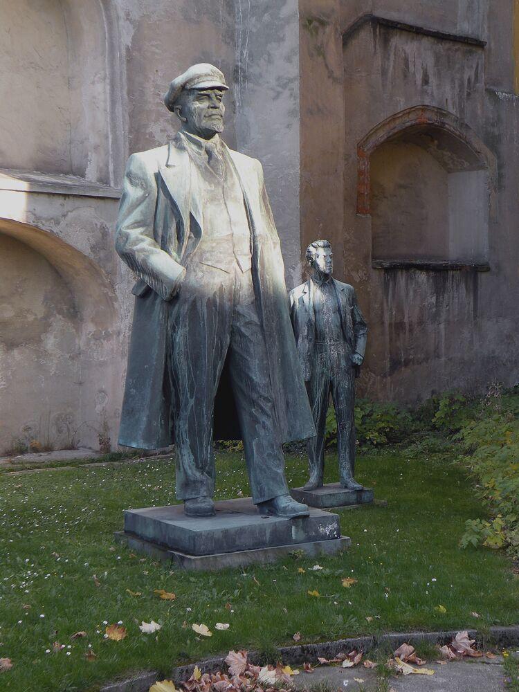 Leninův památník v českém městě Cheb