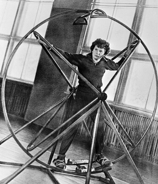 Valentina Těreškovová na tréninku, 1963 - Sputnik Česká republika
