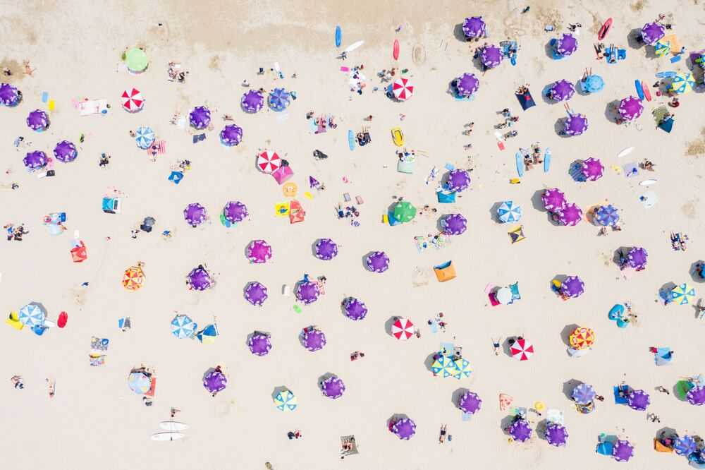 Letecký snímek pláže v Hongkongu