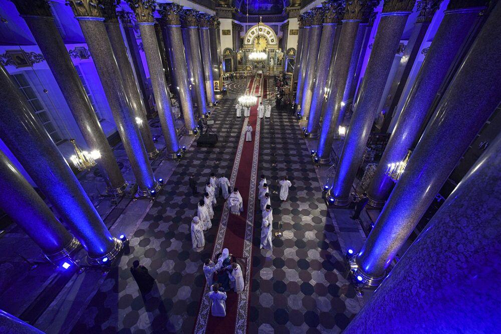 Velikonoční bohoslužba v Katedrále Panny Marie Kazaňské