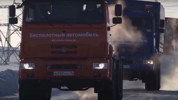 Objevily se záběry z testů bezpilotních vozů v Arktidě   - Sputnik Česká republika