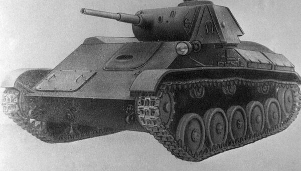 Reprodukce modelu lehkého tanku Т-70 - Sputnik Česká republika