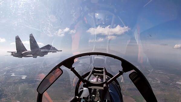 Letadla Baltského loďstva Ruské federace během plánovaného výcviku leteckých útoků na hladinové cíle v Baltském moři. - Sputnik Česká republika